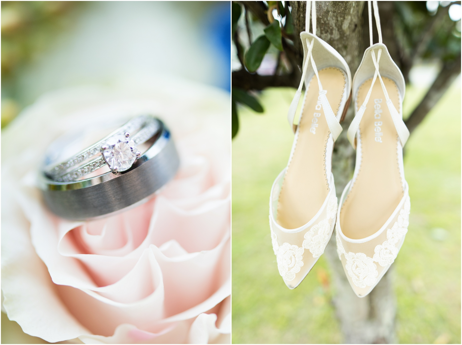 Sowell Farms Milton Florida Rustic Woodsy Barn Wedding Photographer details rings shoes
