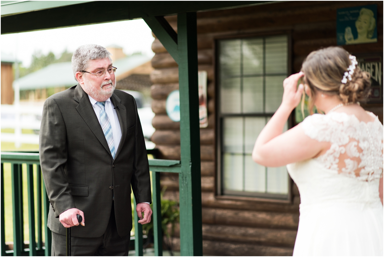 Sowell Farms Milton Florida Rustic Woodsy Barn Wedding Photographer daddy bride first look