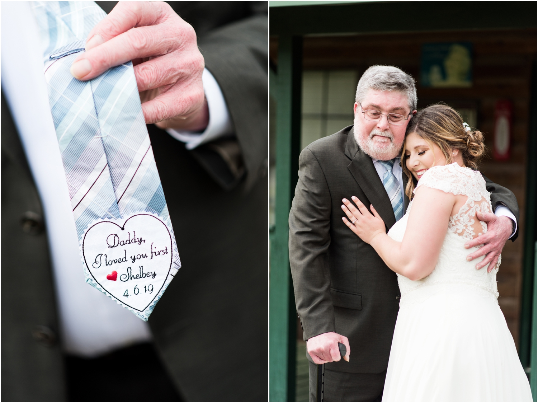 Sowell Farms Milton Florida Rustic Woodsy Barn Wedding Photographer daddy bride first look