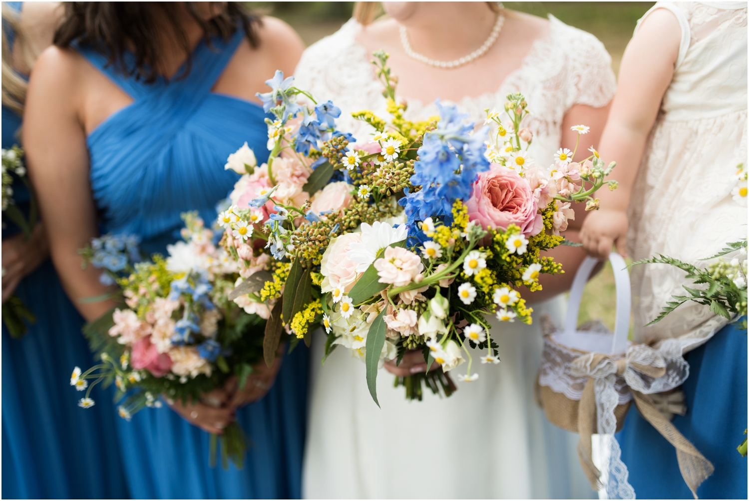 Sowell Farms Milton Florida Rustic Woodsy Barn Wedding Photographer bridesmaids bride bridal party bouquets