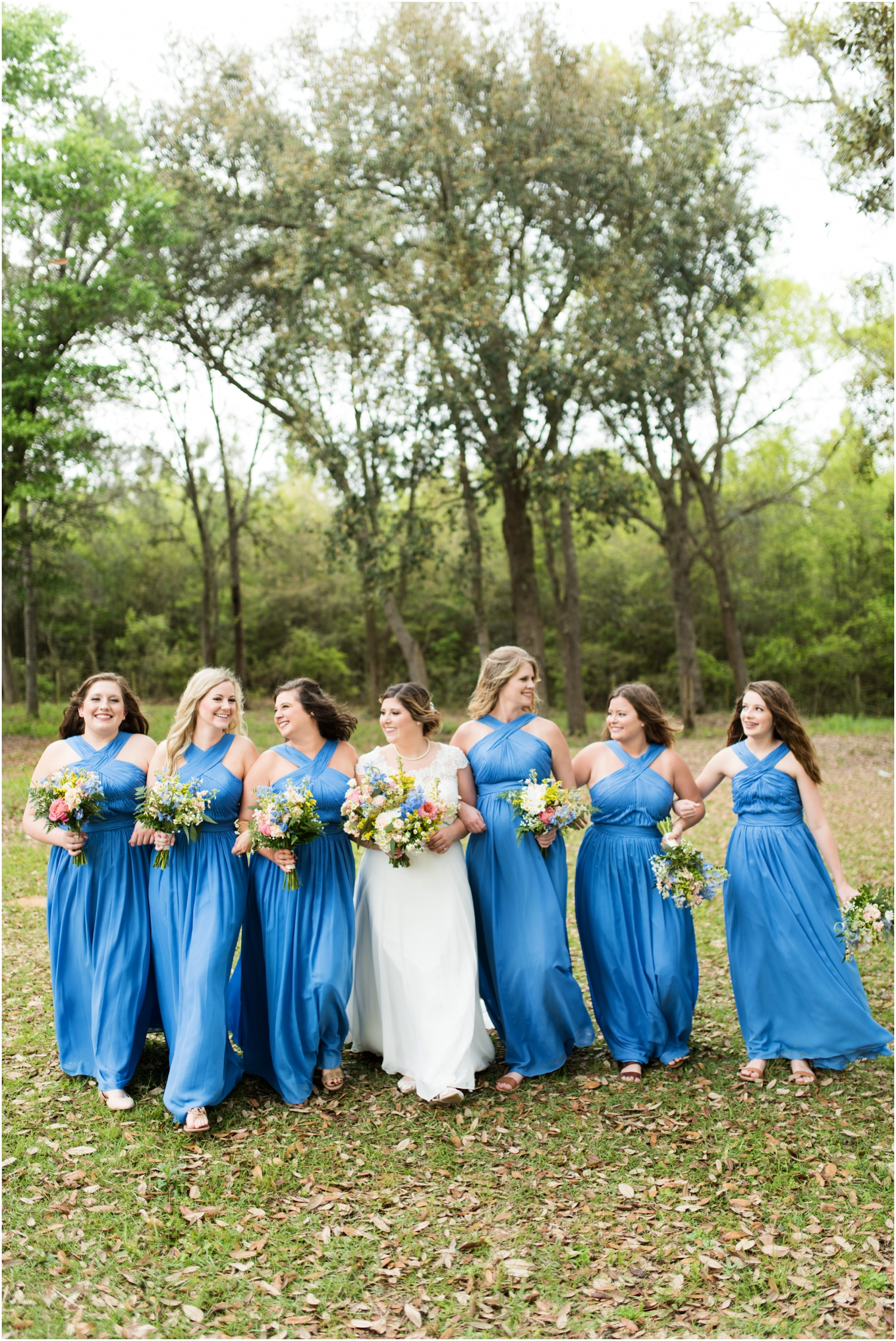 Sowell Farms Milton Florida Rustic Woodsy Barn Wedding Photographer bridesmaids bride bridal party supposey