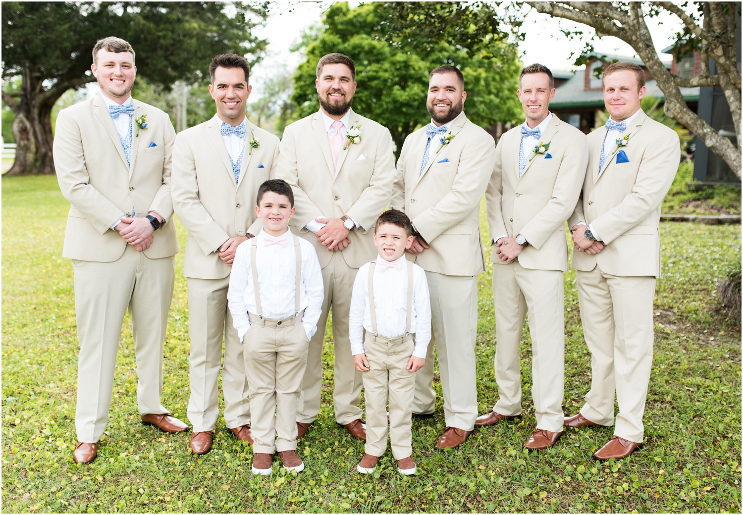 Sowell Farms Milton Florida Rustic Woodsy Barn Wedding Photographer groom groomsmen