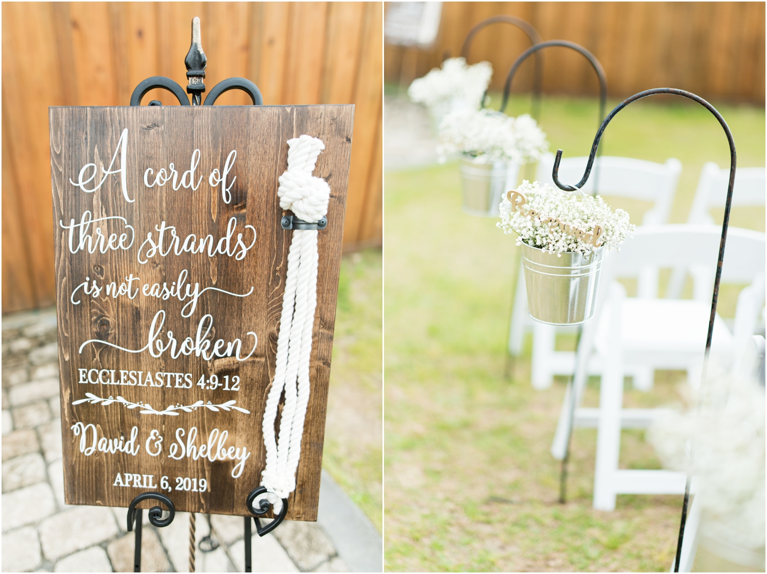 Sowell Farms Milton Florida Rustic Woodsy Barn Wedding Photographer ceremony details