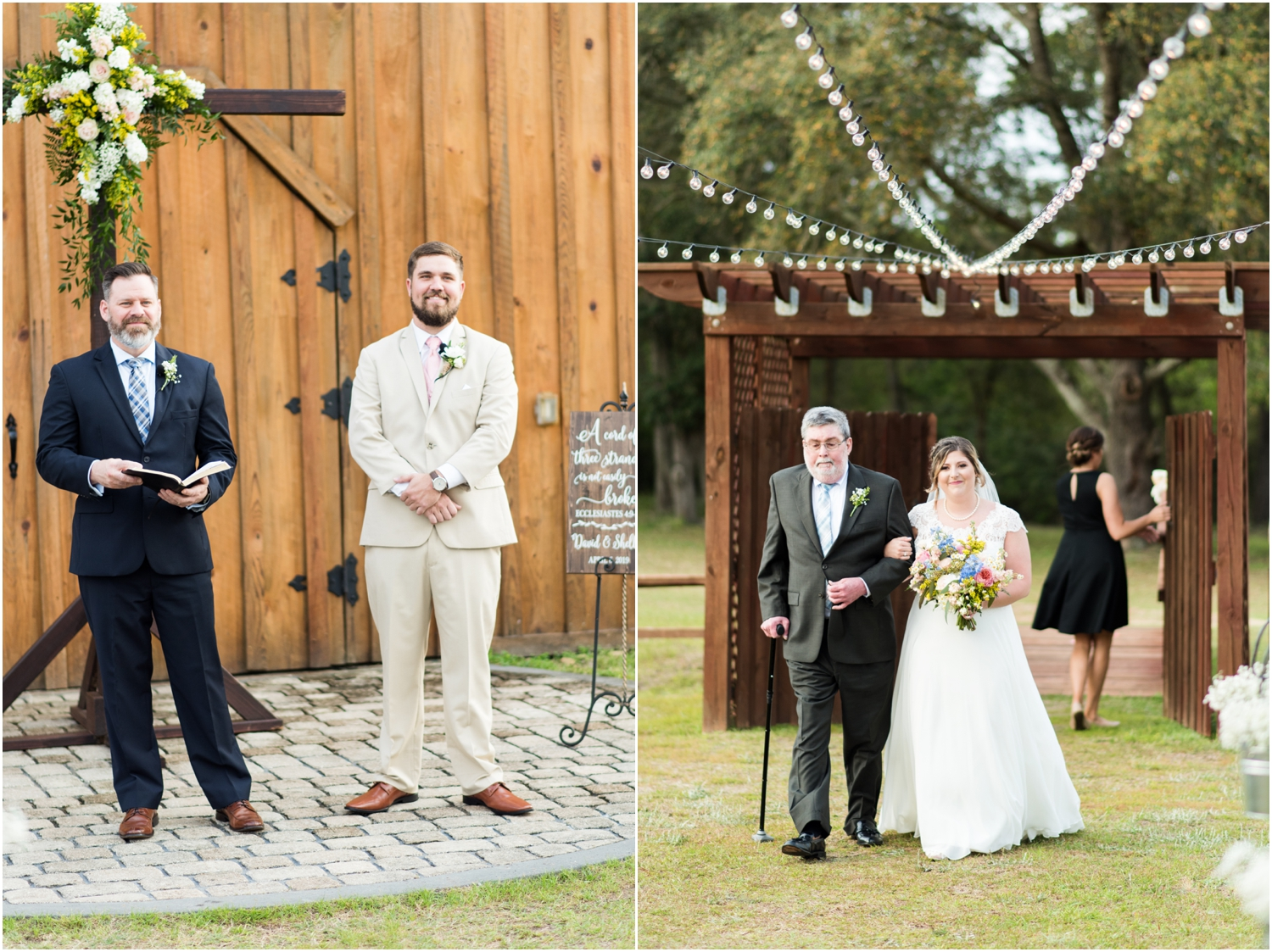 Sowell Farms Milton Florida Rustic Woodsy Barn Wedding Photographer ceremony first look