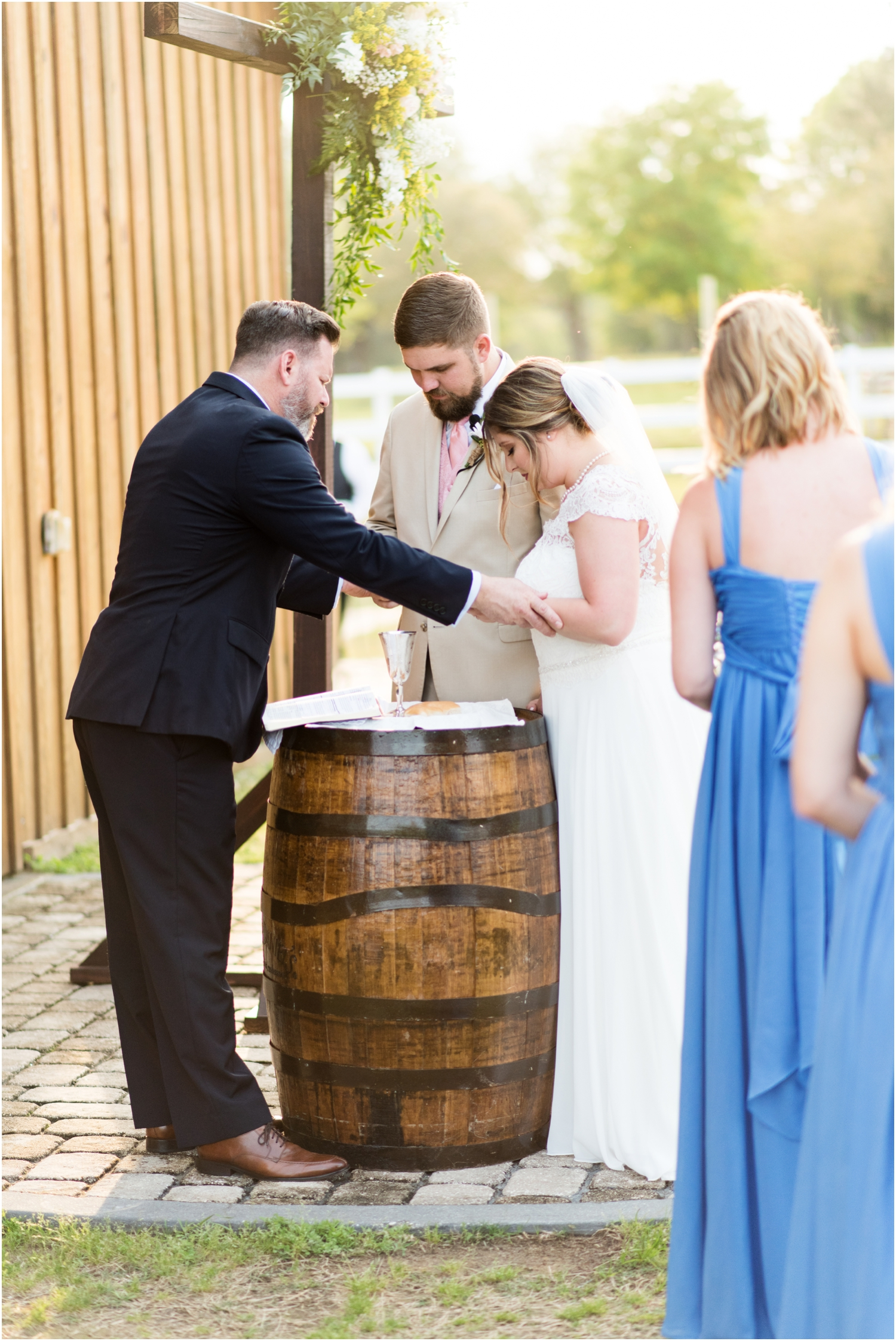 Sowell Farms Milton Florida Rustic Woodsy Barn Wedding Photographer ceremony communion