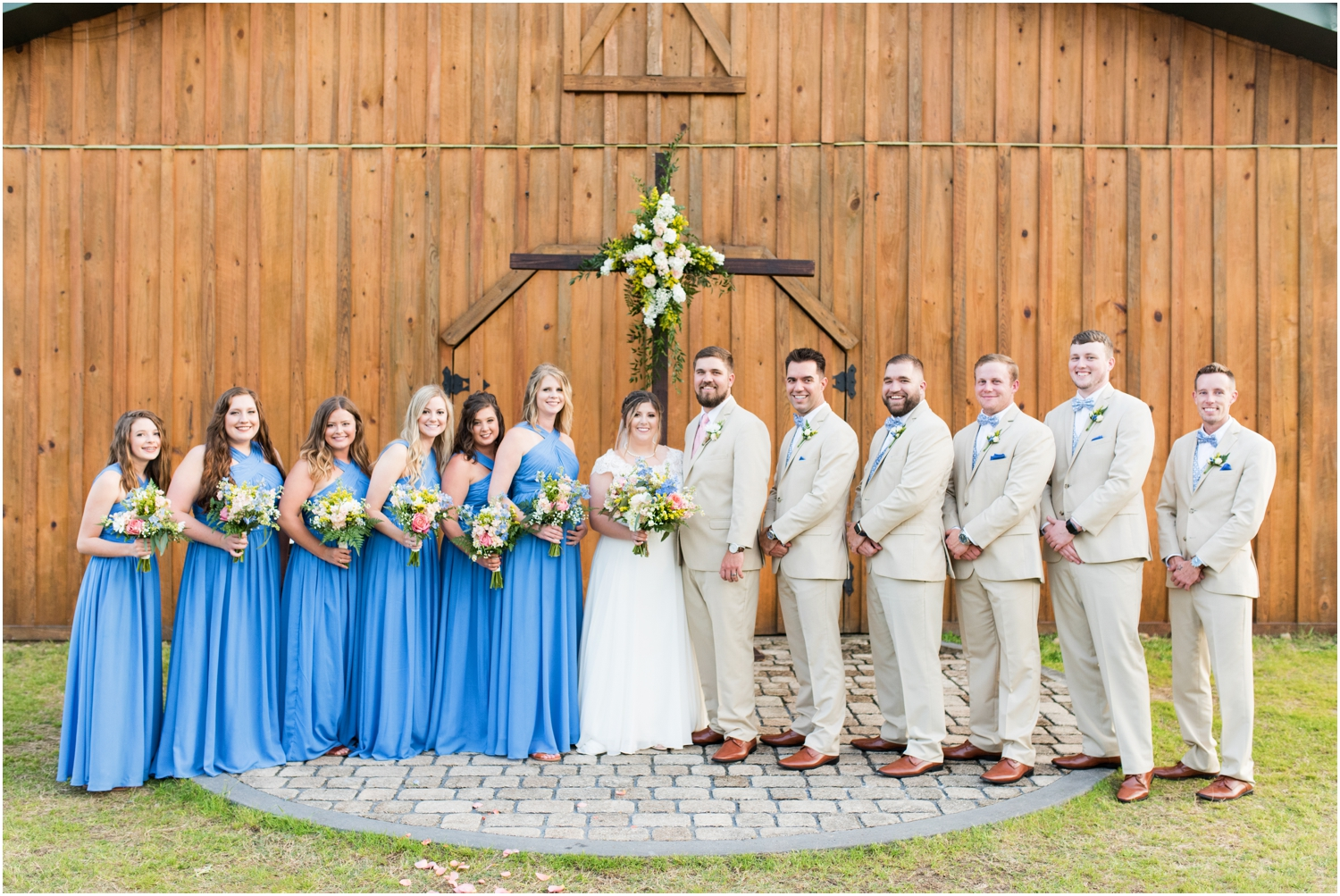 Sowell Farms Milton Florida Rustic Woodsy Barn Wedding Photographer ceremony bridal party