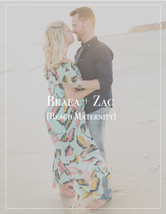 Braea + Zac | Pensacola Beach Sunset Maternity Photographer