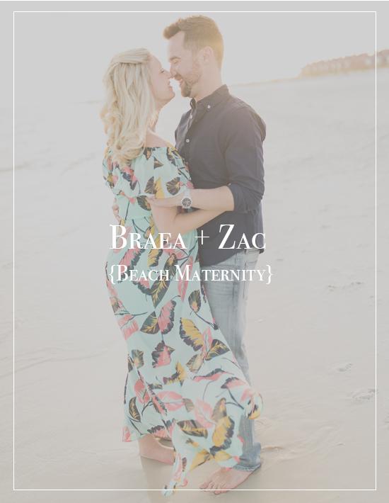 Braea + Zac | Pensacola Beach Sunset Maternity Photographer