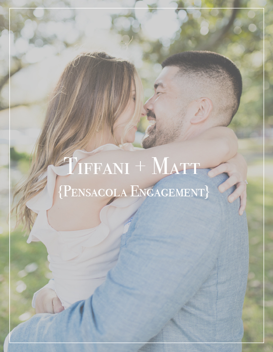 Tiffani + Matt | Downtown Pensacola Beach Engagement Photographer