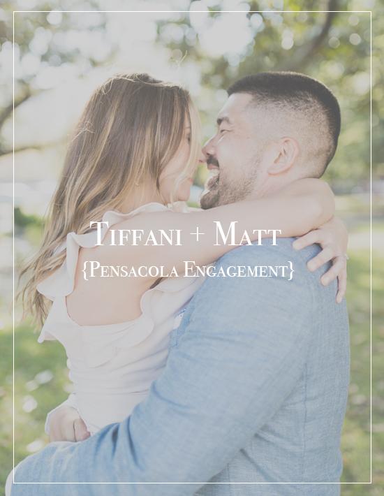 Tiffani + Matt | Downtown Pensacola Beach Engagement Photographer