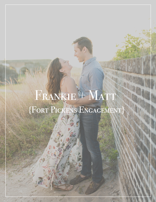 Pensacola Beach Fort Pickens Engagement Photographer | Frankie + Matt
