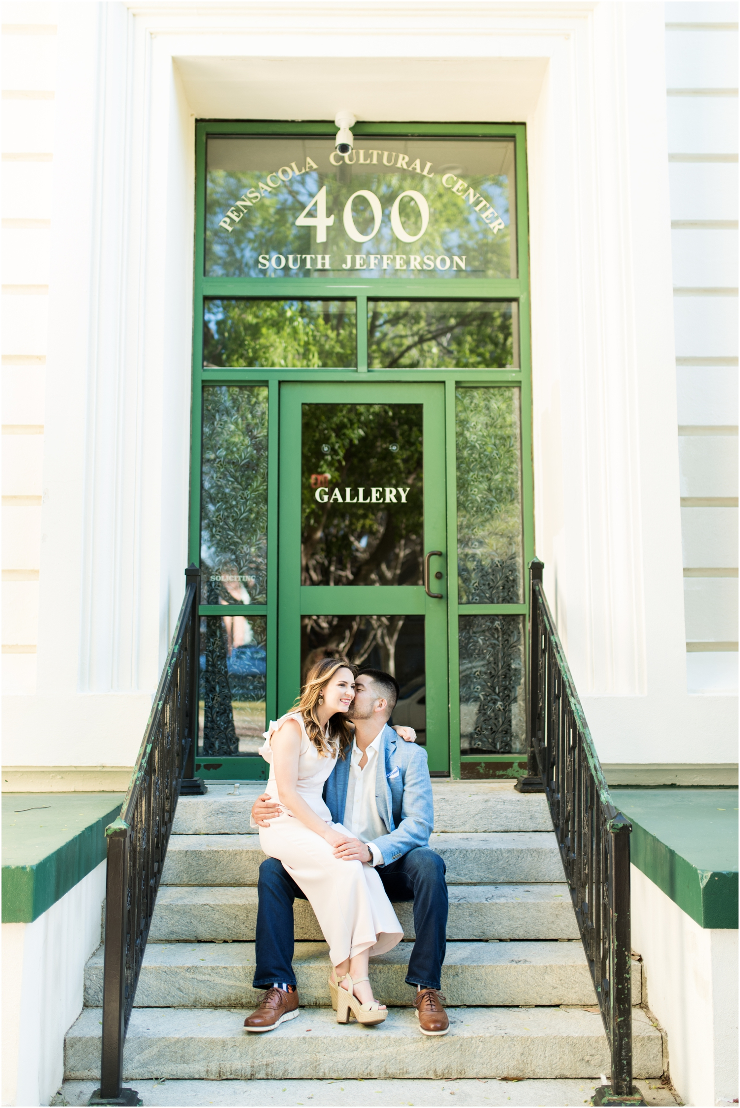 Downtown Pensacola Beach Engagement Session Historic District