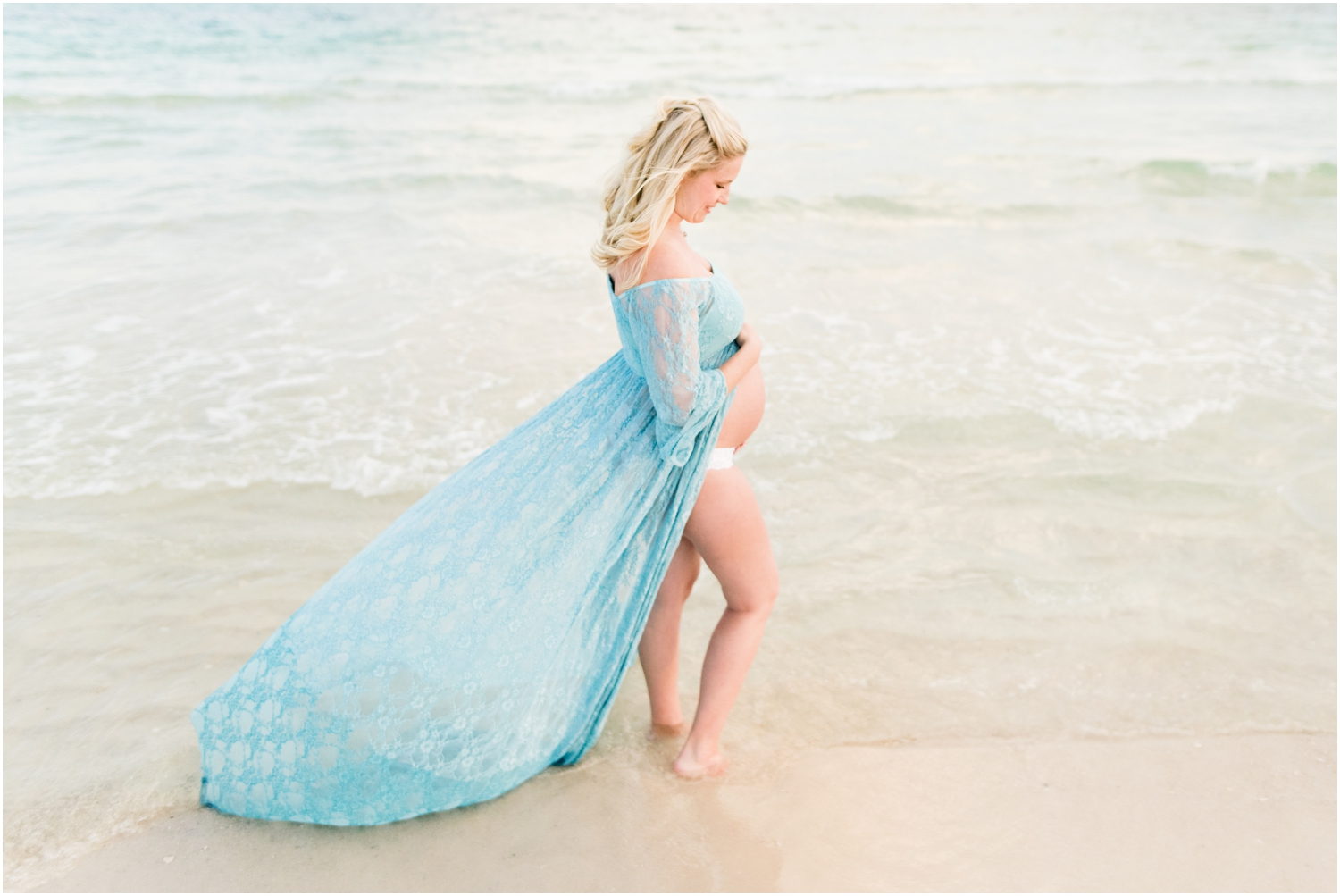 Pensacola Beach Sunset Maternity Session Photographer