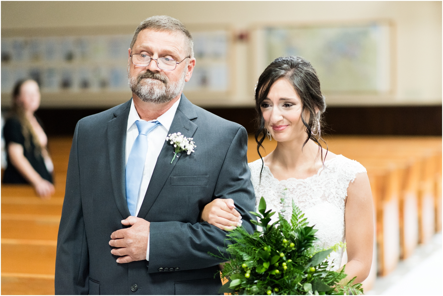 Pensacola Florida Rainy Day Church Wedding