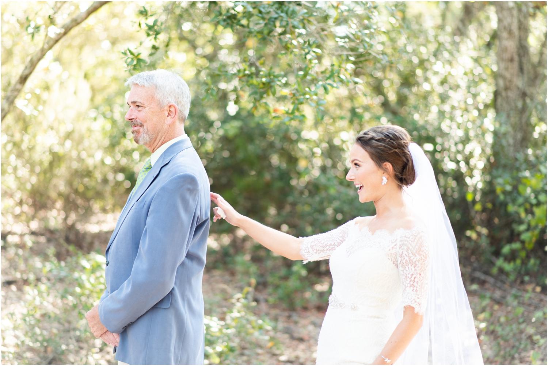 Big Lagoon Park Woodsy Wedding Photographer Dad first look
