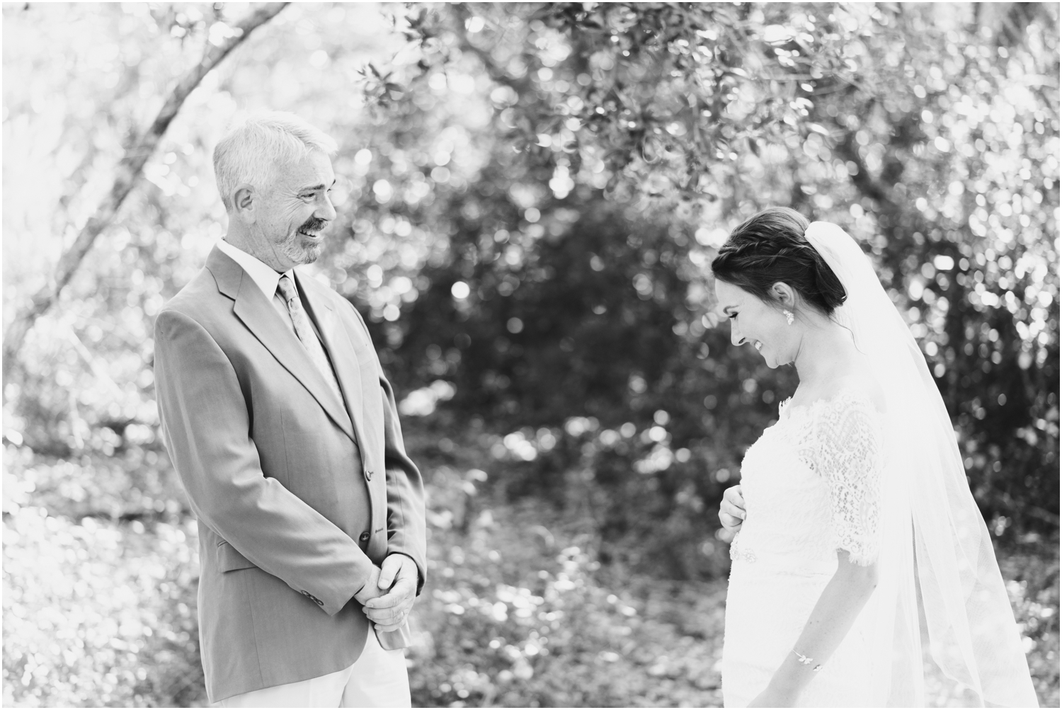 Big Lagoon Park Woodsy Wedding Photographer Dad first look
