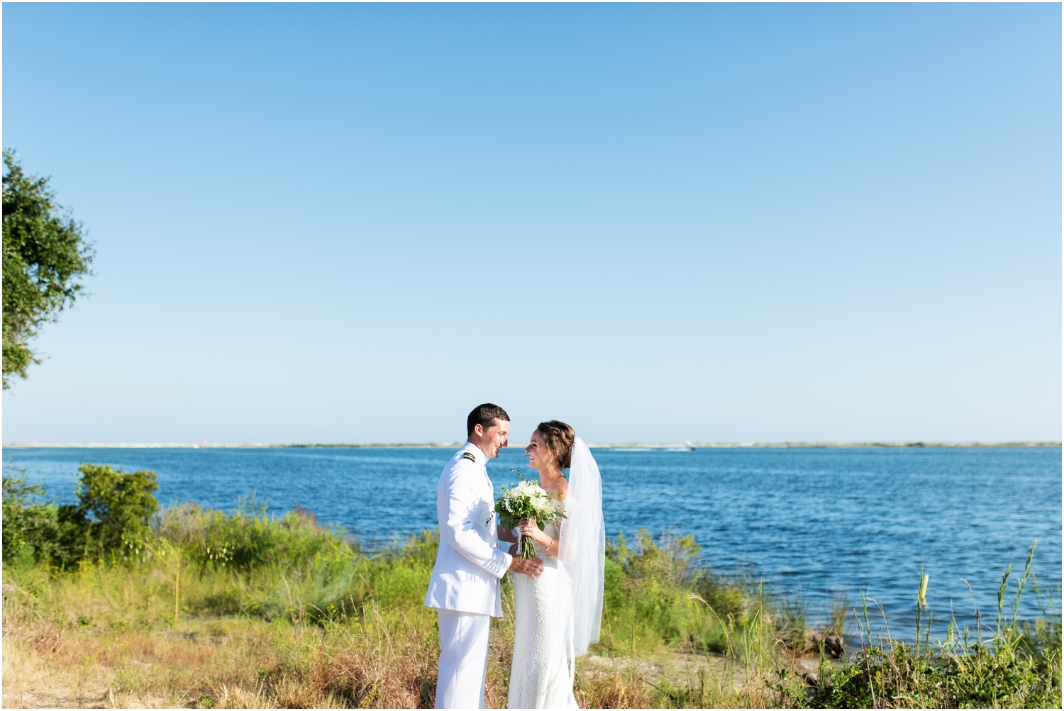 Big Lagoon Park Woodsy Wedding Photographer water view bride groom portraits