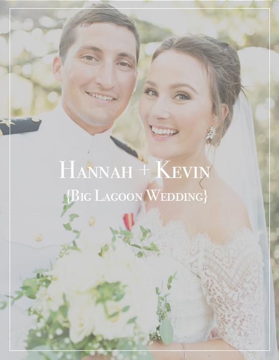 Hannah + Kevin's Big Lagoon State Park Wedding | Military Photographer