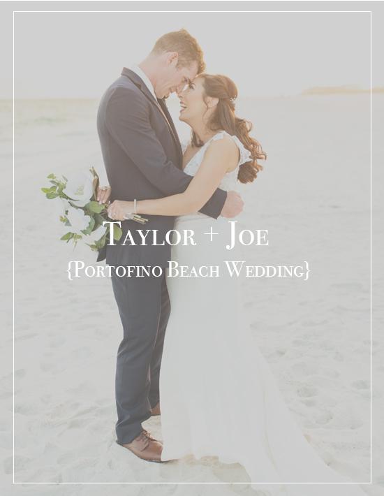 Taylor + Joe's Portofino Beach Wedding | Pensacola Photographer