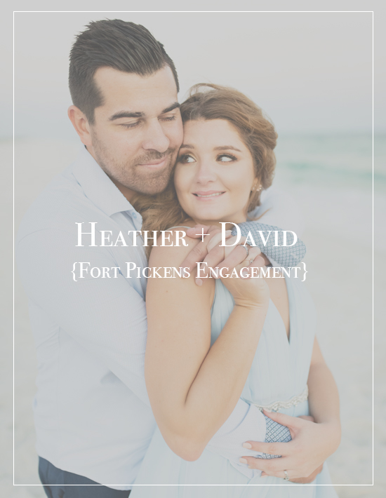 Heather + David's Fort Pickens Engagement Session | Pensacola Beach Photographer