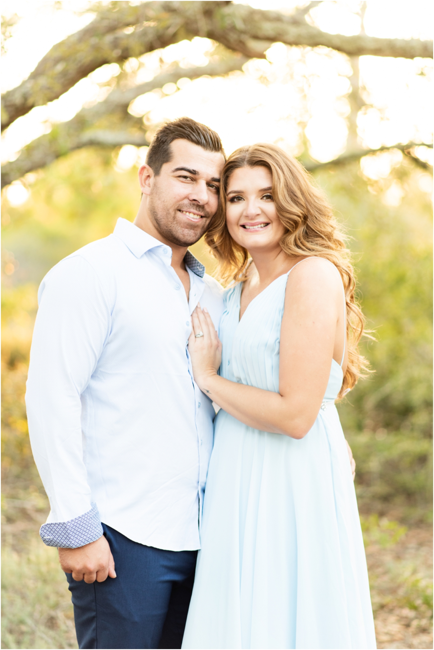 Fort Pickens Pensacola Beach engagment session couple in water
