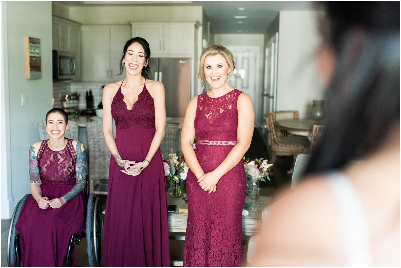 Henderson Beach Resort Inn Destin Florida Wedding Photographer Getting Ready First Look Bridesmaids