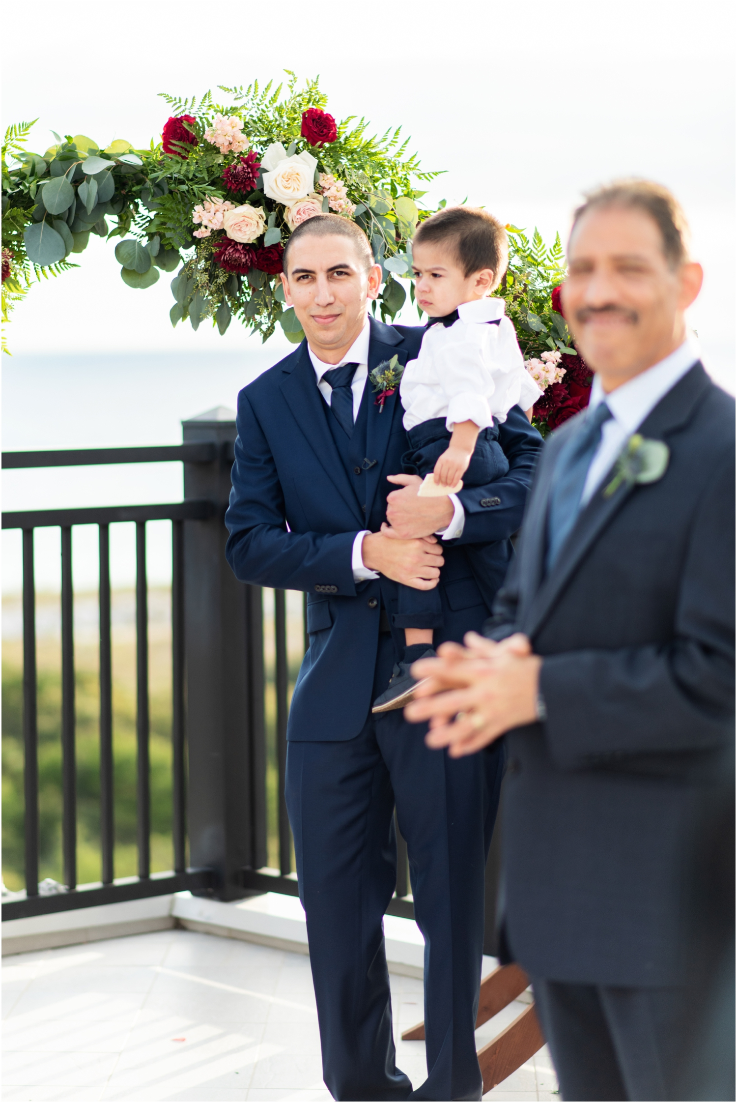 Henderson Beach Resort Inn Destin Florida Wedding Photographer rooftop ceremony first look