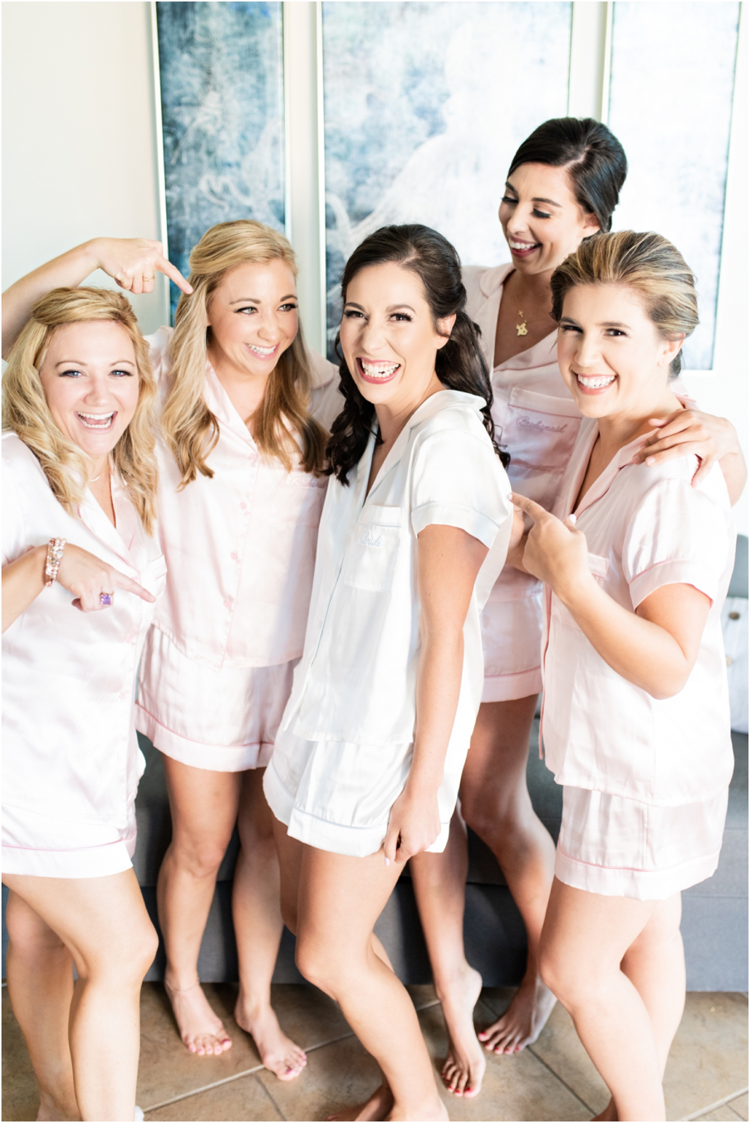 Portofino Island Resort Pensacola Beach Wedding Photographer bride bridesmaids getting ready