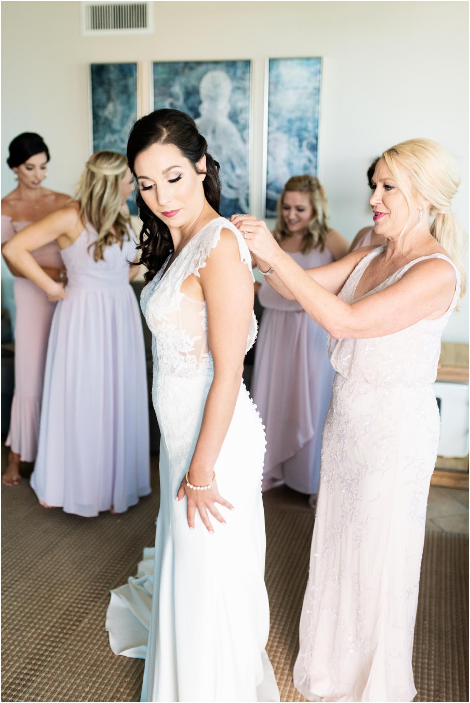 Portofino Island Resort Pensacola Beach Wedding Photographer bride bridesmaids getting ready