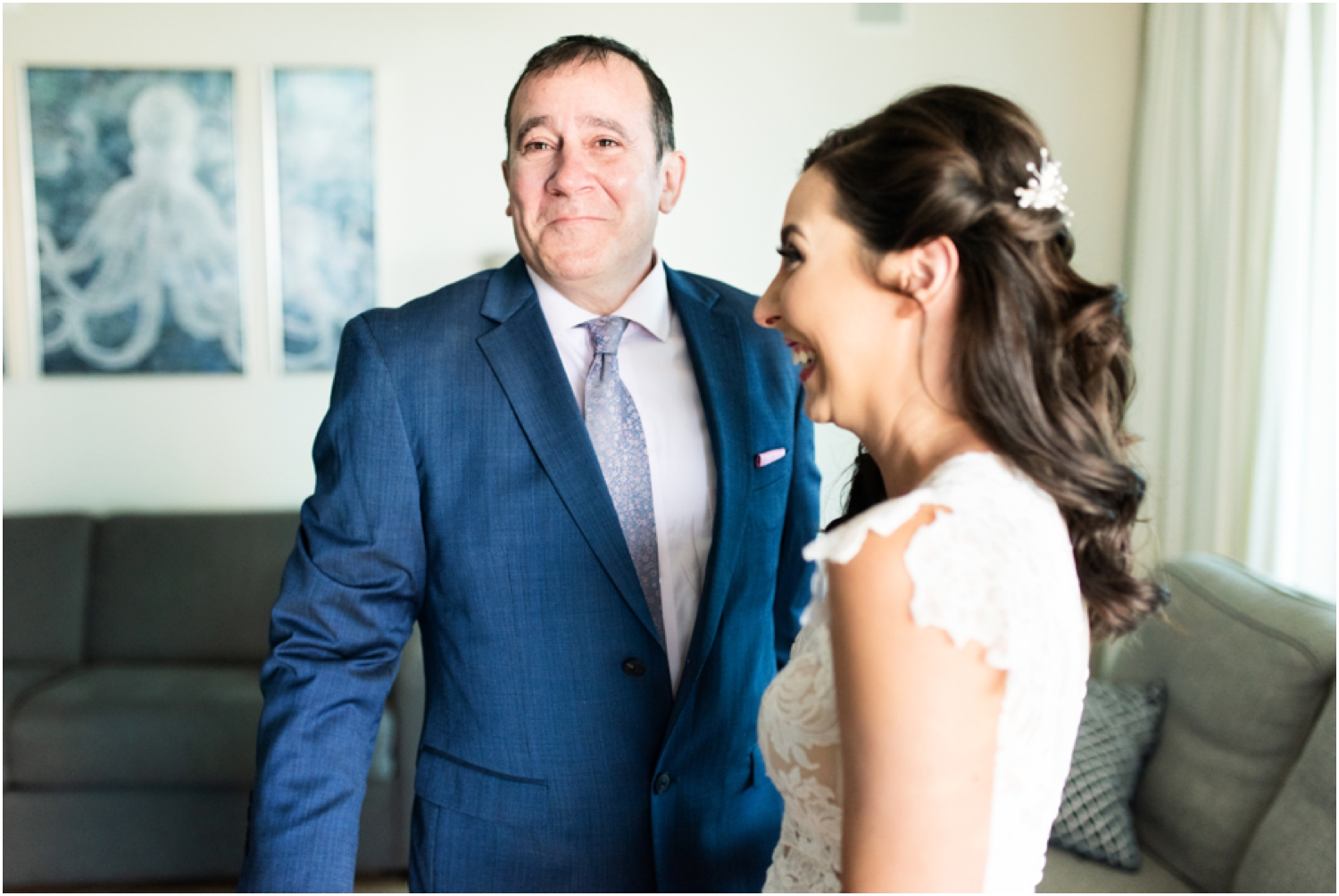 Portofino Island Resort Pensacola Beach Wedding Photographer bride dad first look