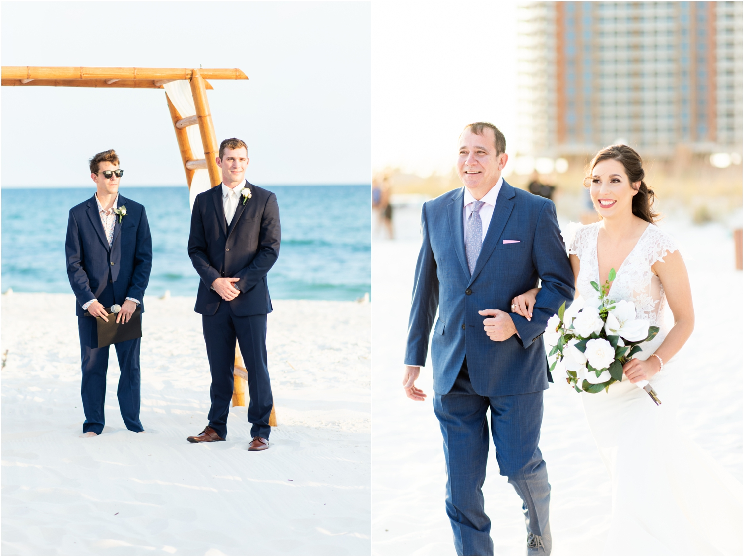 Portofino Island Resort Pensacola Beach Wedding Photographer ceremony first look