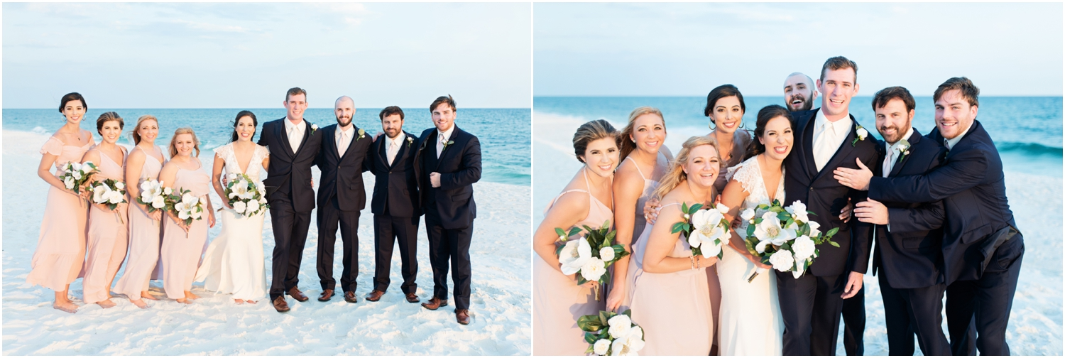 Portofino Island Resort Pensacola Beach Wedding Photographer bridal party fun