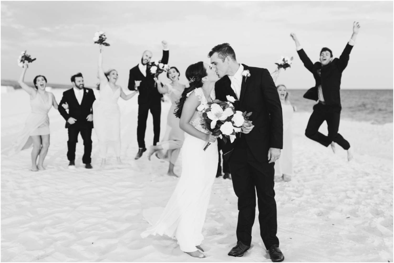 Portofino Island Resort Pensacola Beach Wedding Photographer bridal party fun