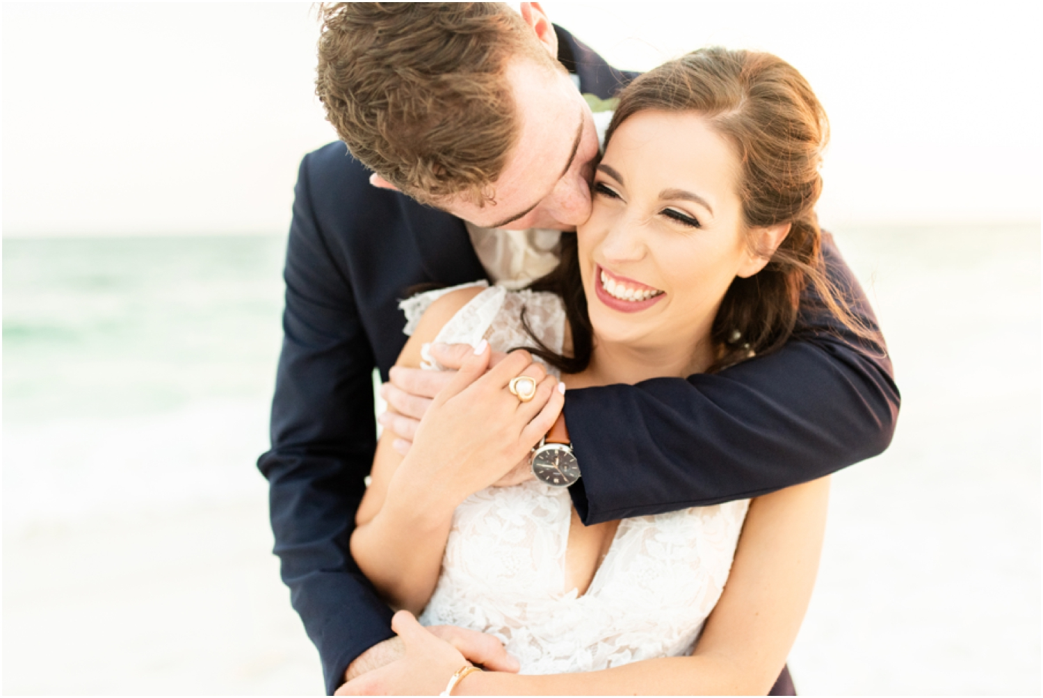 Portofino Island Resort Pensacola Beach Wedding Photographer bride groom sunset portraits