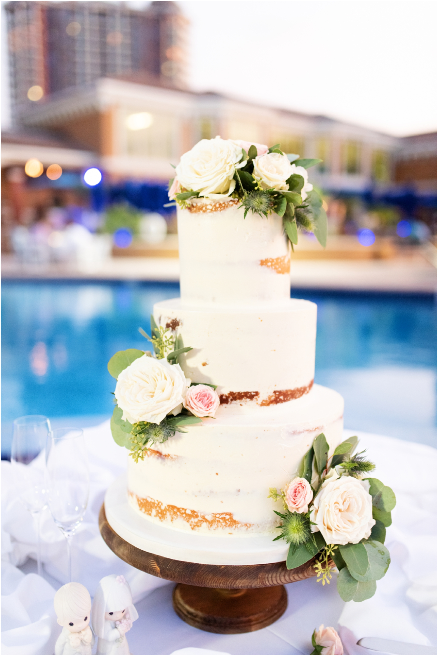 Portofino Island Resort Pensacola Beach Wedding Photographer reception details emerald coast custom cake