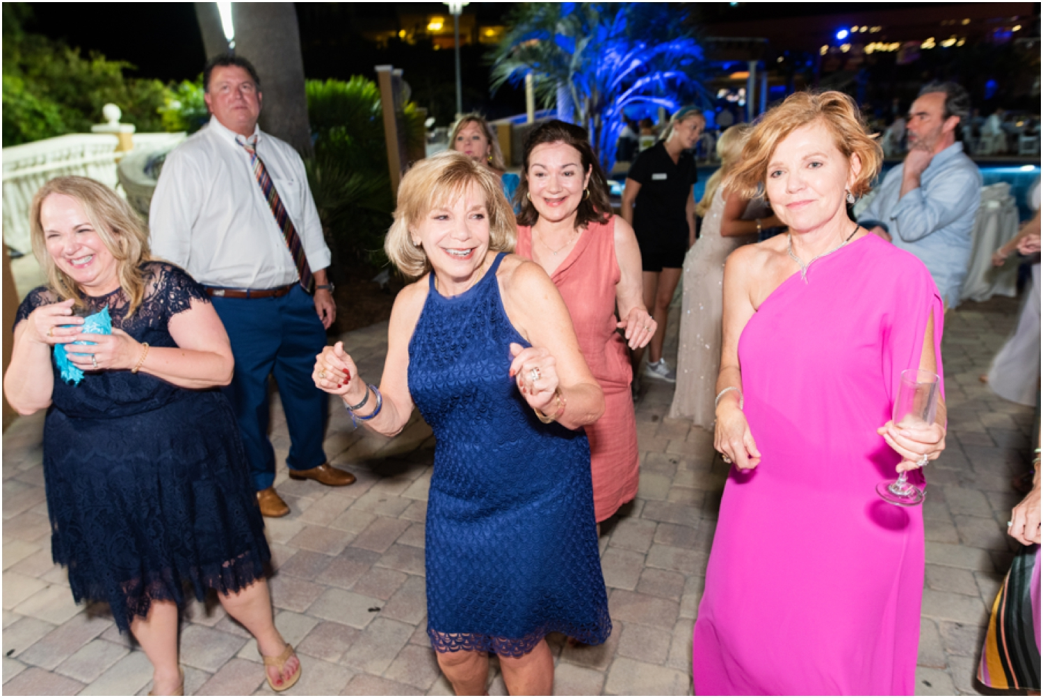 Portofino Island Resort Pensacola Beach Wedding Photographer reception dancing