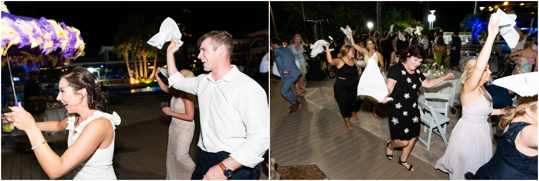 Portofino Island Resort Pensacola Beach Wedding Photographer reception second line new orleans