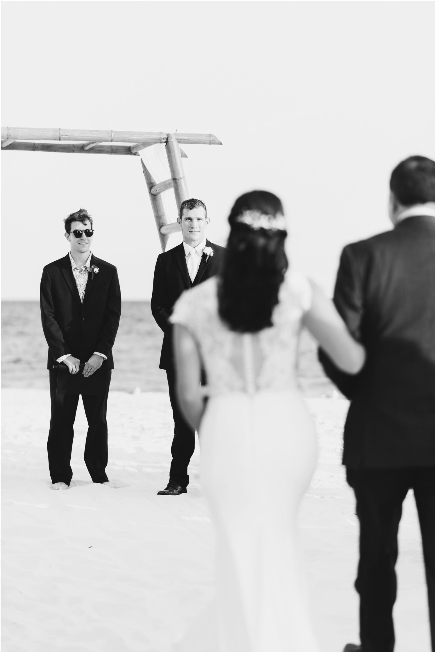 Portofino Island Resort Pensacola Beach Wedding Photographer ceremony first look aisle