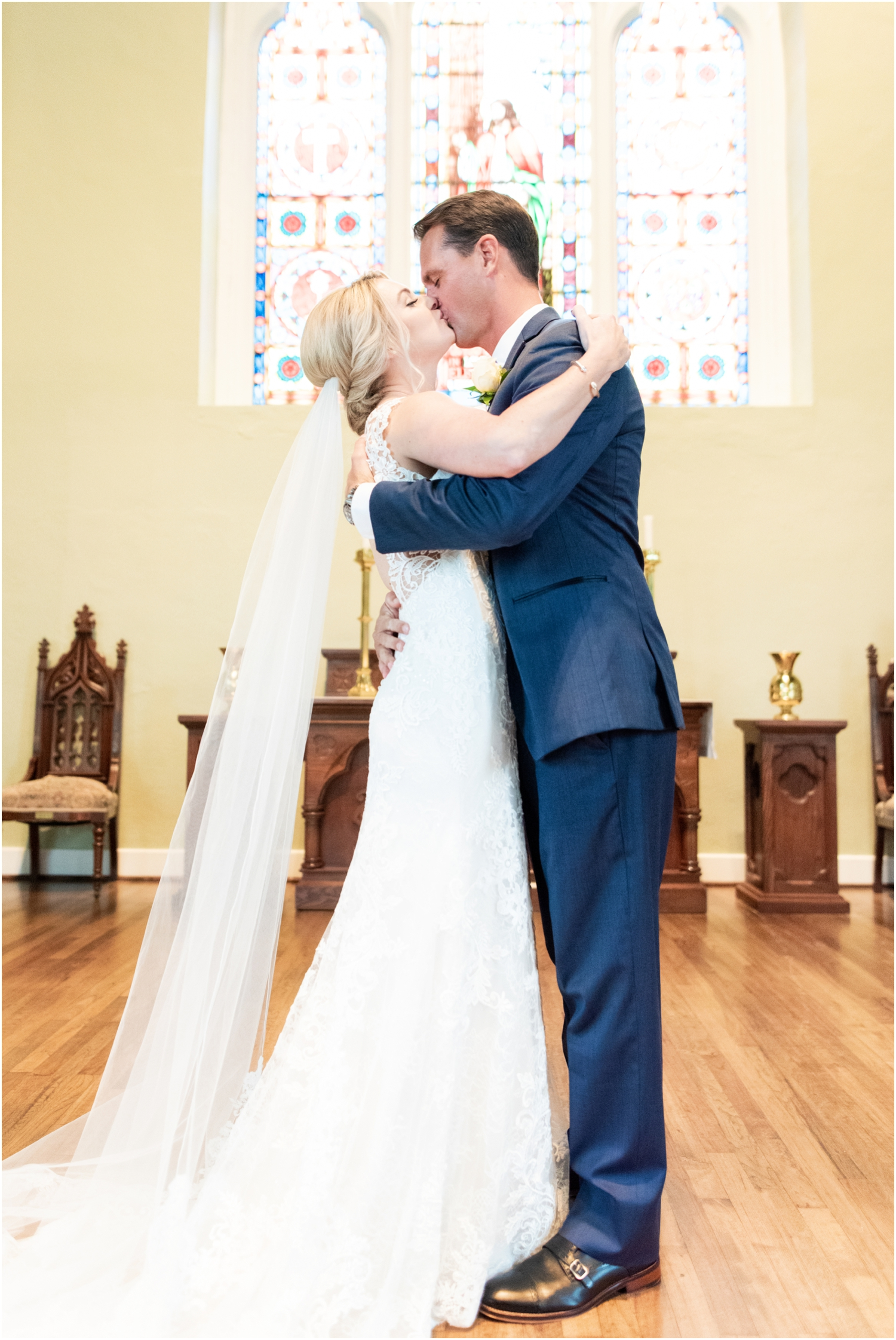 Old Christ Church Palafox Wharf Rainy Day Wedding Ceremony