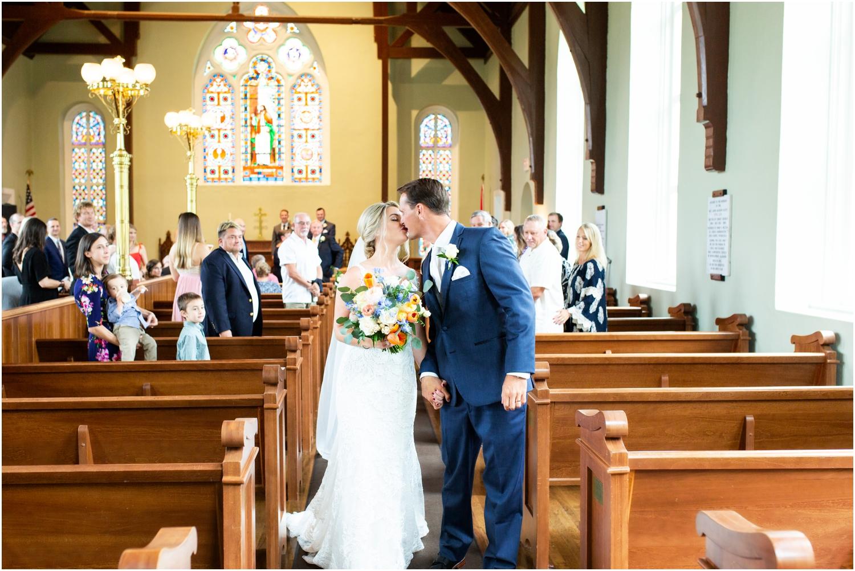 Old Christ Church Palafox Wharf Rainy Day Wedding Ceremony