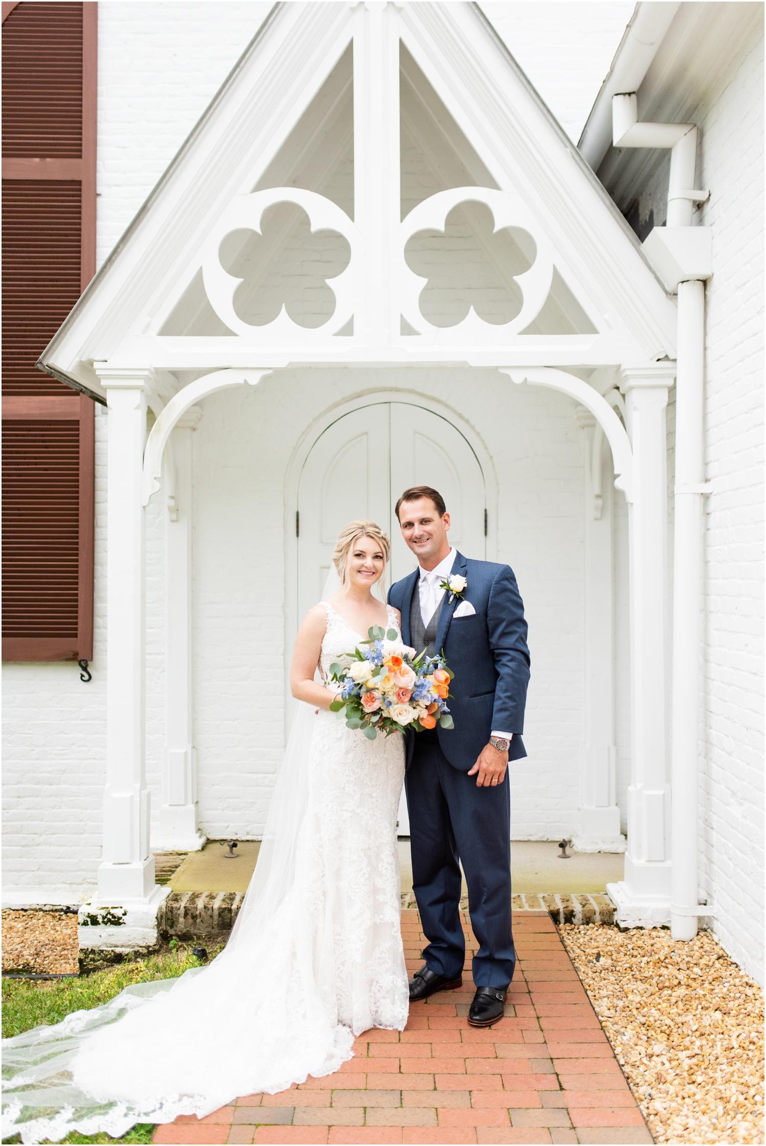 Old Christ Church Palafox Wharf Rainy Day Wedding Bride Groom Portraits Historical