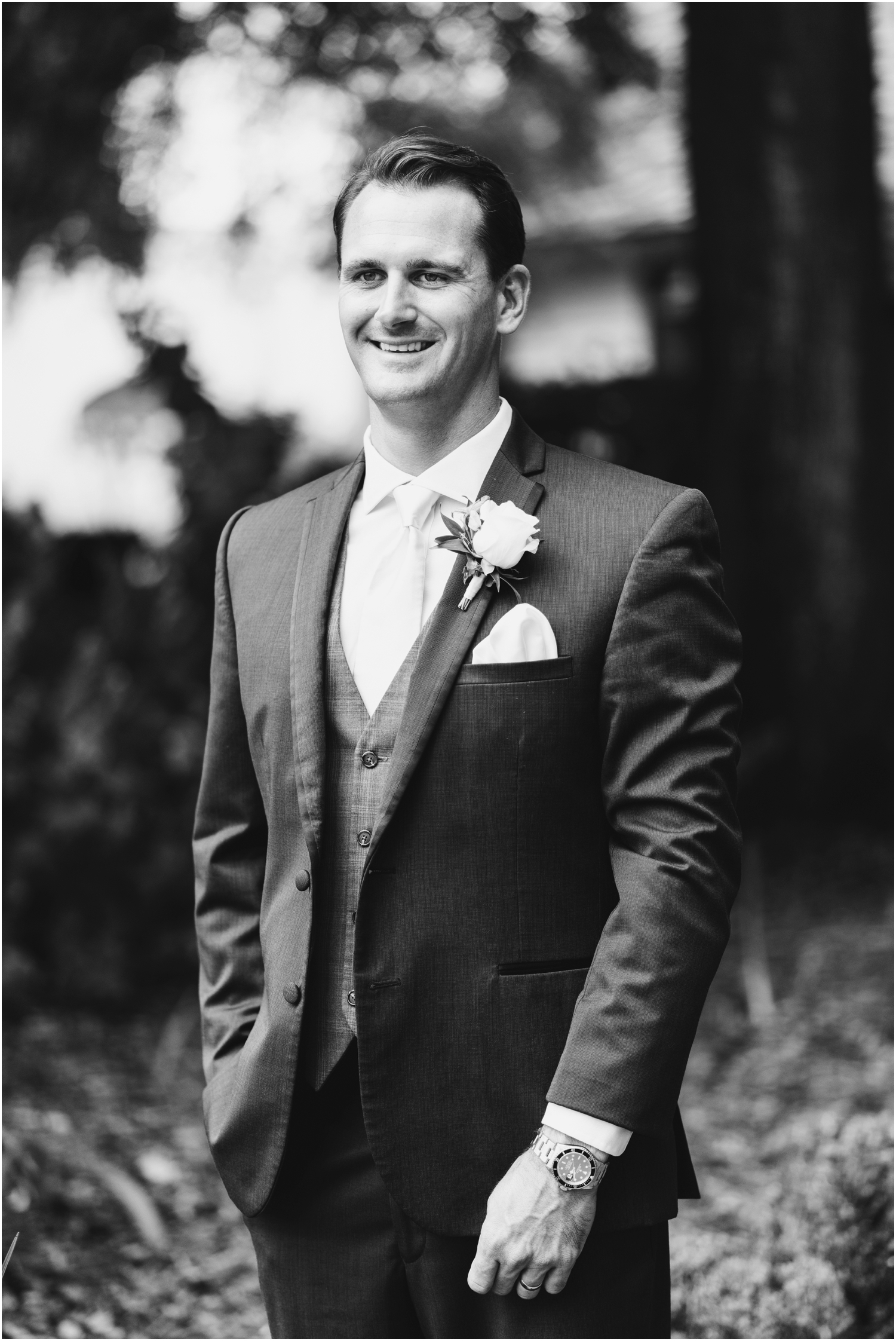 Old Christ Church Palafox Wharf Rainy Day Wedding Bride Groom Portraits Historical District