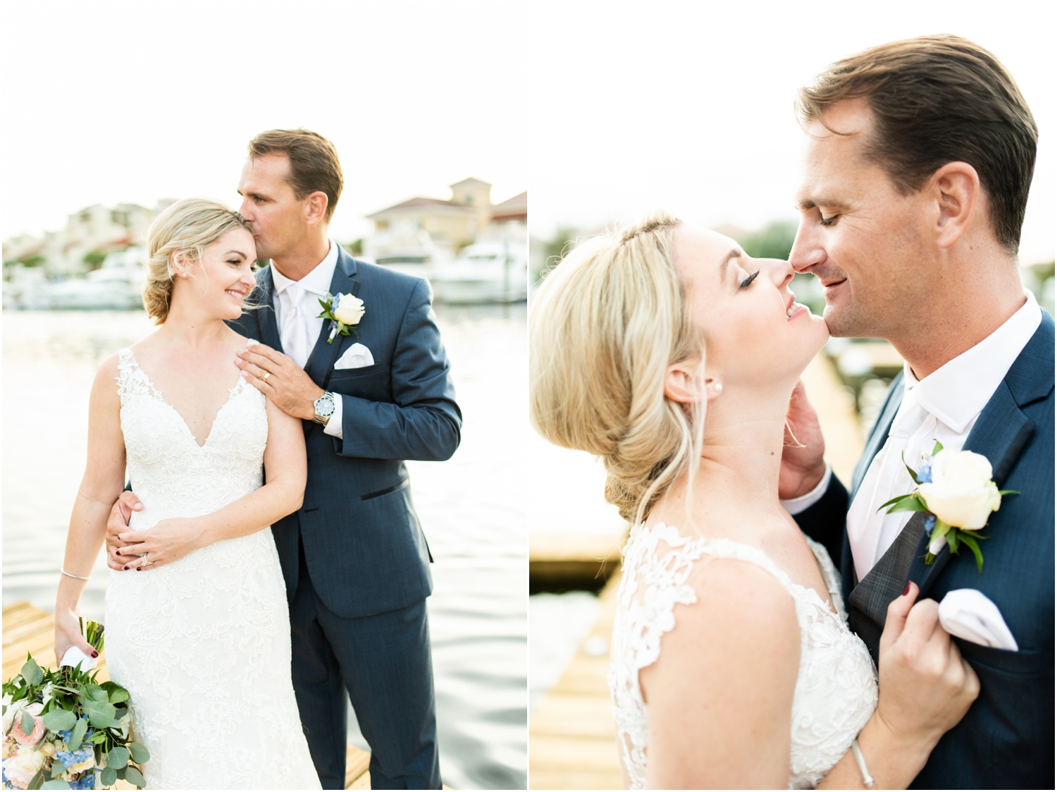 Old Christ Church Palafox Wharf Rainy Day Wedding Sunset Water Portraits
