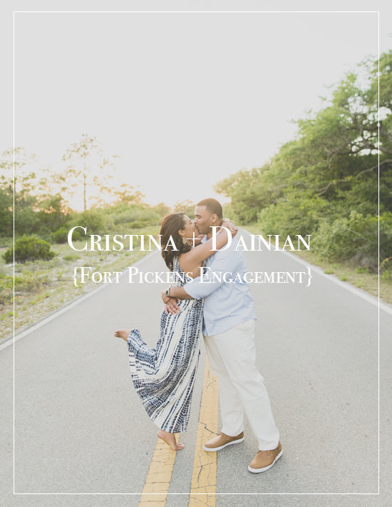 Cristina + Dainian | Woodsy Fort Pickens Engagement