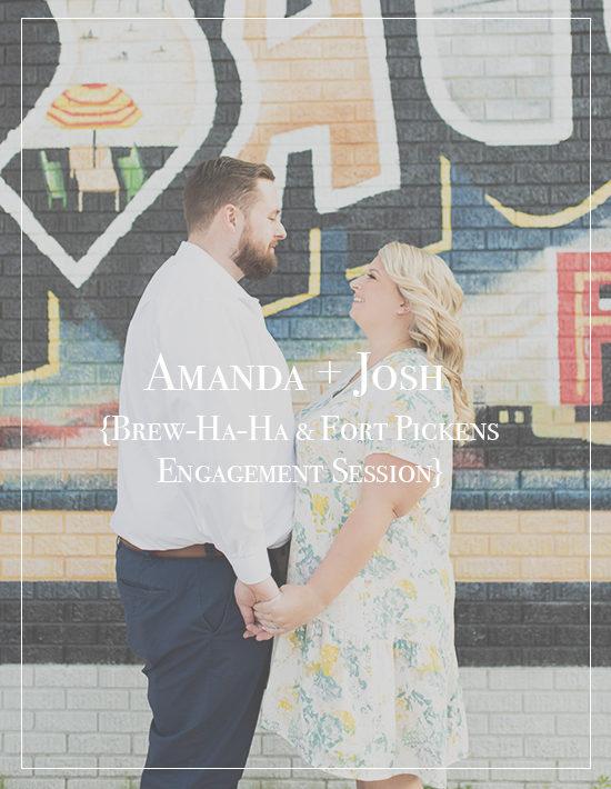 Amanda + Josh | Fort Pickens Pensacola Beach Engagement Photographer