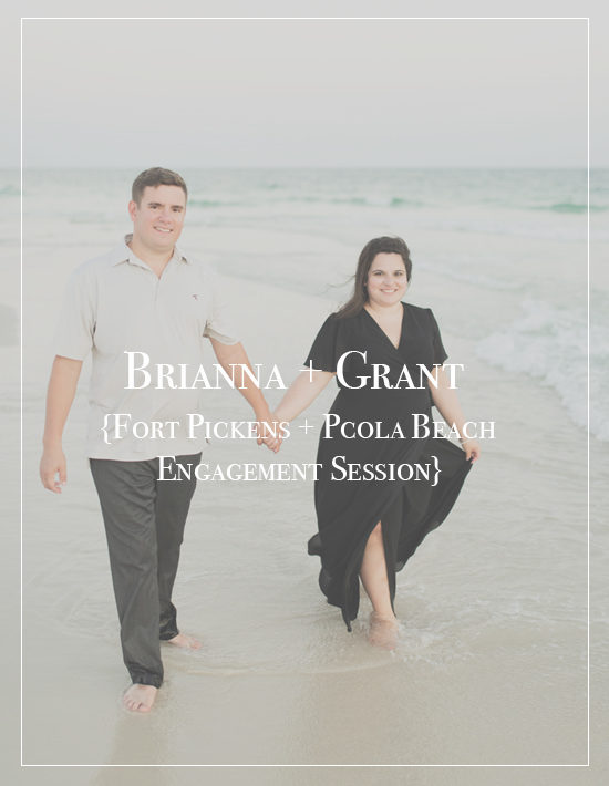 Fort Pickens Pensacola Beach Engagement Session | Brianna + Grant
